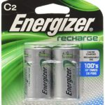 Energizer C2 Rechargeable, Size C, 2-Count