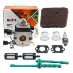 C1Q-S97 Carburetor for STIHL FS38 FS45 FS46 FS55 KM55 HL45 FS45L FS45C FS46C FS55C FS55R FS55RC FS85 FS80R FS85R FS85T FS85RX String Trimmer Weed Eater with Air Filter Fuel Line Kit by HUZTL