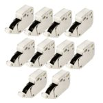 Uxcell Cabinet Cupboard Press Open Door Catch Tip Touch Push Latch, 10-Piece