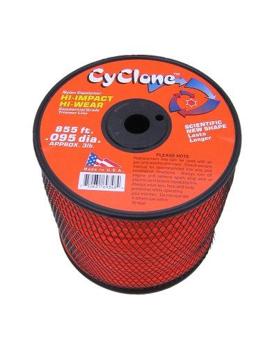 Cyclone .095-Inch diameter,  3-Pound Spool Commercial Grade 6-Blade Grass Trimmer Line, Orange CY095S3-2