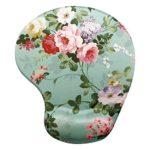Memory Foam Mouse Pad with Wrist Support, Gorgeous Flower Unique Design Ergonomic Mousepad, Super Non-slip PU Base