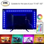 Led Strip Lights 6.56ft for 40-60in TV,Pangton Villa USB LED TV Backlight Kit with Remote – 16 Color 5050 Leds Bias Lighting for HDTV