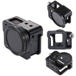 PULUZ GoPro HERO6/ 5 CNC Aluminum Alloy Housing Shell Case Protective Cage with Insurance Frame & 52mm UV Lens (Black)