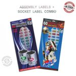 Assembly ID Labels plus Chrome Foil Socket Label Combo. Tough Chrome Foil Assembly Labels for numbering and tagging and Tough Chrome Foil Labels for Sockets and Tool Identification. 120 labels total.