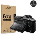 (3 Pack) LCD Screen Protector, Akwox Optical 9H Tempered Glass Screen Protective Firm For Sony Alpha A5000 A6000 A6300 NEX-3 NEX-5 NEX-7 DSLR Camera