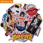 100 PCS Not Repeat Graffiti Sticker Label Fashion Label Art Car Board Waterproof Random Stickers