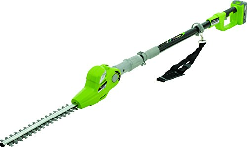 Earthwise LPHT12017 17-Inch 20-Volt Lithium Ion Cordless Pole Hedge Trimmer