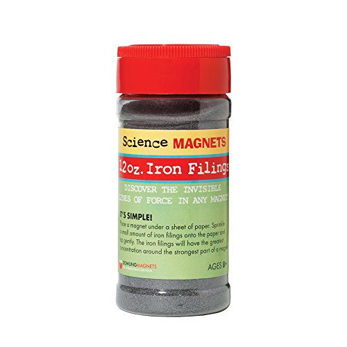 Dowling Magnets Iron Filings, Jar (12 ounces) with shaker lid