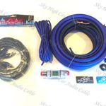 Oversized 4 Ga CCA AWG Amp Kit Twisted RCA Blue Black Complete Sky High