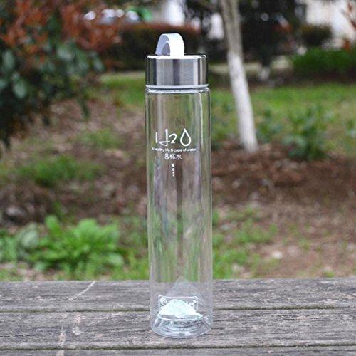 Water Bottle ,BeautyVan 2016 New Fashion 280ML Transparent Portable Bike Sports Unbreakable Plastic Water Bottle (A)