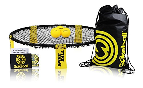 Spikeball 3 Ball Game Set – Outdoor Indoor Gift for Teens, Family – Yard, Lawn, Beach, Tailgate – Includes Playing Net, 3 Balls, Drawstring Bag, Rule Book- As Seen on Shark Tank (3 Ball Set)