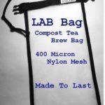 Compost Tea Brew Bag : 400 Micron Nylon Mesh : Made in U.S.A. (15-50 Gallon Brewer Sized (20″x22″))