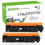 Aztech compatible with HP 17A CF217A M102w Black Toner Cartridge for HP M102w Toner HP laserjet M102w M102, HP MFP M130fw M130nw HP Laserjet Pro MFP M130fw M130nw M130fn M130 Toner Printer- 2 Pack