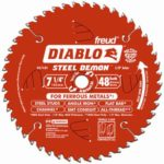Freud Diablo DO748F Diablo Steel Demon 7 1/4 Inch 48-Tooth Titanium Carbide TCG Ferrous Metal Cutting Circular Saw Blade w/Perma Shield Non-Stick Coating and Laser Cut Stabilizing Vents
