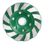 SODIAL(R) 12 Segs 4 inch Concrete Turb Diamond Grinding Cup Wheel Disc Masonry Stone Cutting Tool For Angle Grinder