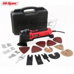 Hi-Spec 2.5A (300w) Oscillating Multi-Tool with Keyless Tool Changing, 38pc Accessory Kit and Variable Speed Switch for Sanding, Grinding, Cutting, Removing Grout and Stains – Multi-Function Power Too