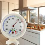 Cocal Round Indoor Outdoor Hygrometer Humidity Thermometer Temperature Meter Gauge