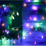 WONFAST 4M 40 LED Stars Battery Operated Fairy String Lights Decorative Lighting for Home Wedding Birthday Indoor Outdoor Use (Multicolor)