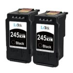 LxTek Remanufactured PG-245 XL Ink Cartridge Replacement for Canon PG-245XL PG-245 245XL 245 XL PG-243 (2 Black) for Canon Pixma MX492 MG2522 MG2920 MG2922 MG2520 MX490 MG2420 MG3020 IP2820 Printer
