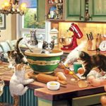 Buffalo Games – Cats Collection – Kitten Kitchen Capers – 750 Piece Jigsaw Puzzle