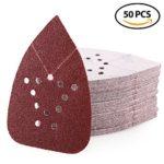 Sanding Sheets 60 Grit Hook and Loop Sandpaper – LotFancy 12 Holes Mouse Detail Palm Sander Paper, Pack of 50