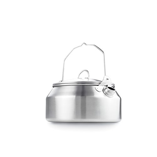 GSI Outdoors Glacier Stainless Steel Kettle – 1 Quart – Camping & Backpacking