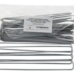 10 Inch Galvanized Garden Staples/Stakes/Pegs Heavy Duty Rust Resistant Steel Pack of 25