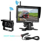 "ZSMJ Wireless Backup camera Rear view Camera System 7"" Display TFT Monitor Wide View Angle IP69K waterproof Night Vision for /Truck /Pickup /Van /Caravan /Trailers /Camper"