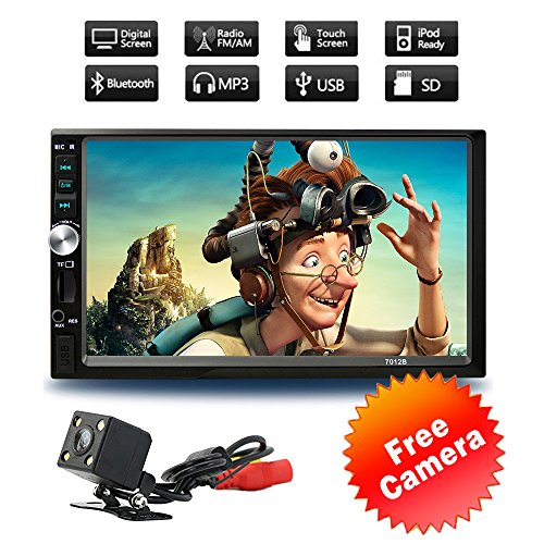 Car stereo with bluetooth 7inch Touch Screen Car Stereo MP5 player FM Radio Car Audio support Rear View Camera Wireless Remote Control