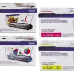 Brother TN-221 Standard Yield Black and TN-225 High Yield Color Toner Cartridge Set