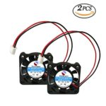 SoundOriginal 2pcs 4010 Brushless DC Cooling Fan 12V 0.15A 40x40x10mm Speed 6800 RPM Fans for computer case 3d Printer Humidifier and Other Small Appliances Series Repair Replacement