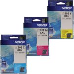 Brother LC20E Super High Yield Ink Cartridge Set Colors Only (CMY)