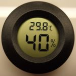 Alicenter(TM) Roundish Mini Digital Cigar Humidor Hygrometer Thermometer Round Face