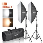 Emart Photography Softbox Lighting Kit, Photo Equipment Studio Softbox 20″ x 27″, 45W Dimmable LED with Double Color Temperature for Portrait Video and Shooting