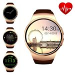 ZAOYI Bluetooth Smart Watch Cell Phone, Round Touch Screen Fitness Watches Support SIM Card TF Card with Heart Rate Monitor for Men and Women, Compatible with iOS iphone and Android Phone