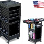 N20 SALON TROLLEY ROLL-ABOUT ROLLING CART NON LOCKING MADE IN USA by Dina Meri
