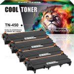 Cool Toner 4 Packs TN 450 Toner Compatible Toner for Brother TN450 TN-420 Toner Cartridge Brother HL-2270dw HL-2280dw MFC 7360n HL-2280dw MFC 7860dw MFC-7860dw DCP 7065dn HL-2240 Toner
