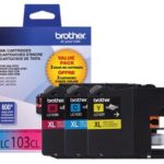 Brother Genuine High-Yield Ink Cartridges LC1033PKS XL Series Color, 2 Count (Cyan, magenta, yellow)