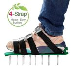 RVZHI Lawn Aerator Shoes with 4 Straps and Heavy Duty Metal Buckles – Spiked Sandals Shoes Garden Tool