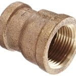 Anderson Metals 38119 Red Brass Pipe Fitting, Reducing Coupling, 3/4″ x 1/2″ Female Pipe