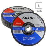 KSEIBI 641010 7-Inch by 1/4-Inch Metal Stainless Steel Inox Grinding Disc Depressed Center Grind Wheel, 7/8-Inch Arbor, 5-Pack