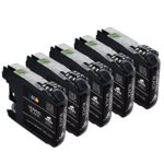 IKONG 5 Black Compatible Ink Cartridge Replacement for Brother 203 XL works with Brother MFC-J4320DW MFC-J4420DW MFC-J4620DW MFC-J5520DW MFC-J5720DW MFC-J480DW J485DW J460DW J880DW J680DW J885DW