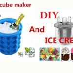 Ice cube maker genie silicone ice bucket ice maker & DIY ice cream