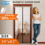 Magnetic Screen Door for Patio Door,Full Frame Velcro,Instant Bug Mesh Fits Door Up To 36″x82″,Automatically Tight Closure Hands Free Coffee by IKSTAR