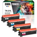 Cool Toner 4 Packs Compatible Brother TN210 TN 210 Toner Cartridge for Brother HL3070cw HL-3075cw HL-3040cn HL-3045CN MFC9320cw MFC 9120cw MFC-9320cw MFC 9325cw Toner(TN-210K TN-210C TN-210M TN-210Y)