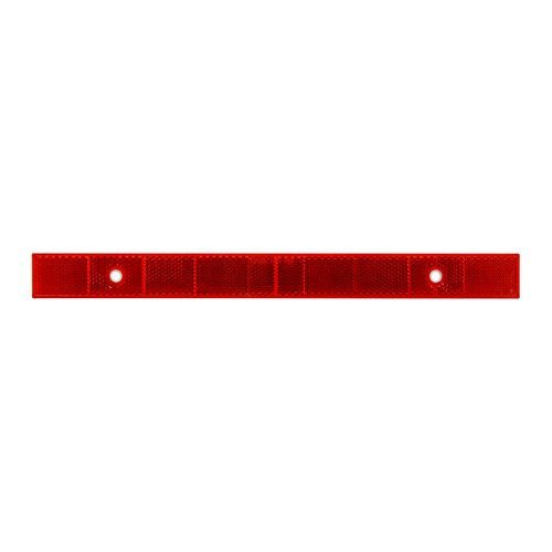 Grand General 80866 Red 12″ Stick-On Reflector Strip with 2 Mounting Holes and Stainless Steel Screws