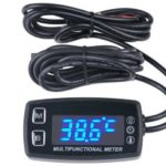 AndyTach Digital tachometer, thermometer and hour meter (LED display, 12v, A/C engine)