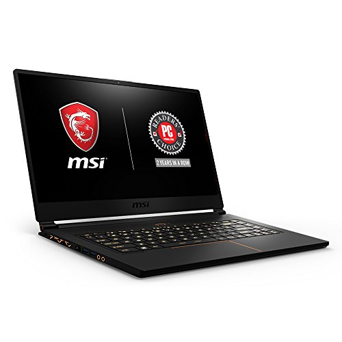 MSI GS65 Stealth THIN-051 15.6″ 144Hz 7ms Ultra Thin Gaming Laptop GTX 1060 6G, i7-8750H 6 Core, 16GB RAM, 256GB SSD, RGB KB VR Ready, Metal, Black w/ Gold Diamond Cut, Win 10 Home 64bit