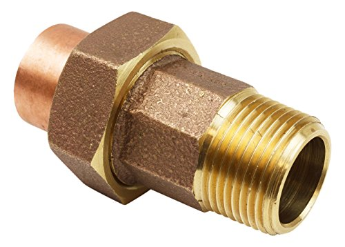 Everflow Supplies CCMU0112-NL 1-1/2″ Lead Free Copper Union Fitting with Sweat to Male Threaded Connects