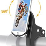 Bike Mount, Bovon Universal Bicycle Phone Holder, Adjustable Silicone Bike Handlebar Rack for iPhone X 8 7 6 6S Plus, Samsung Galaxy S9 S8 Plus and Most 4.7″-6.3″ Smart phones (black)
